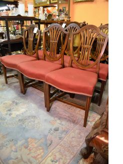 set of six georgian mahogany chairs