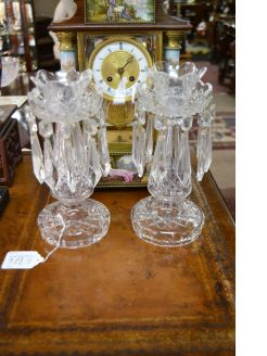 Pair waterford candle sticks
