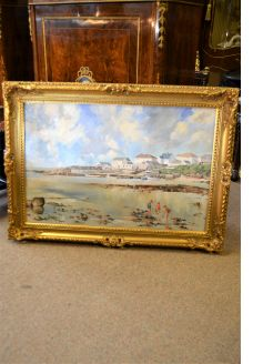 Gilt framed oil on canvas
