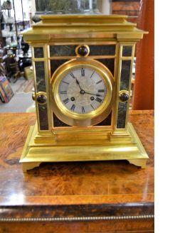 Victorian brass clock
