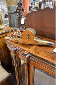 Victorian oak & brass bellows