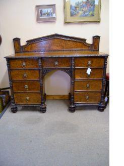 Victorian oak & burr oak sideboard