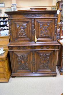 Carved mahogany cabinet