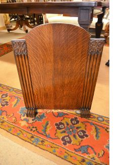 Art deco oak fire screen