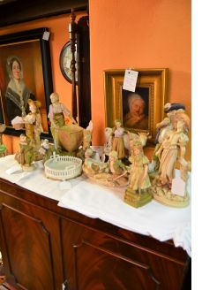 Selection of austrian porcelain figures
