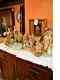 Selection of austrian porcelain figures