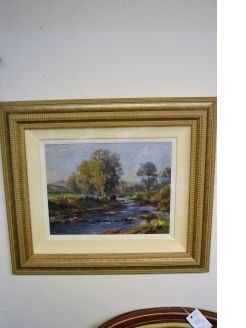 Framed oil painting by charles mcauley