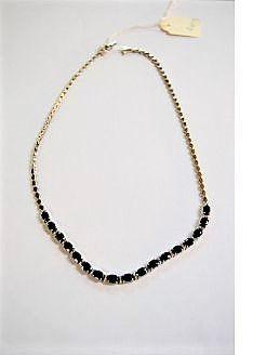 18ct white gold & sapphire diamond necklace