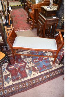 Edwardian mahogany window seat