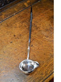 18th century silver tody ladle