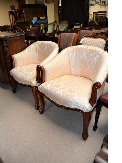 Pair of mahogany tub chairs