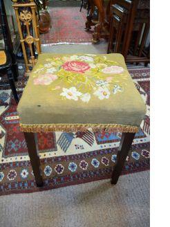 Victorian mahogany stool