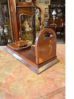 Victorian mahogany book slide