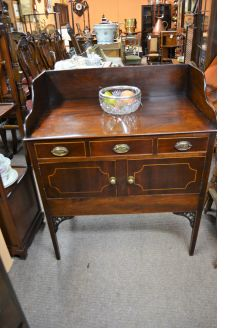 Georgian mahogany washstand