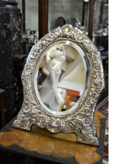 Large silver photo frame