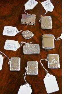 Selection of silver vesta cases