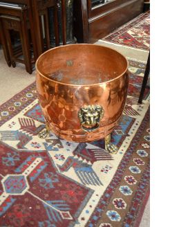 Copper and brass planter