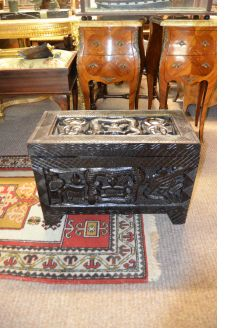Carved chinese wooden camphor wood chest/ trunk