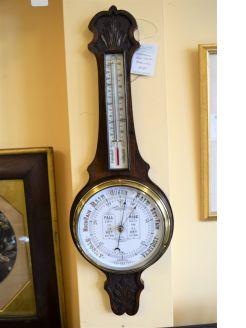 Edwardian Oak cased barometer