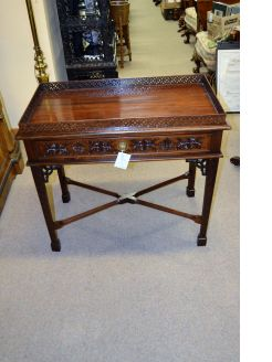 Mahogany reproduction silver table