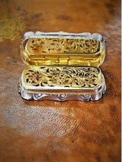 Victorian silver vinaigrette