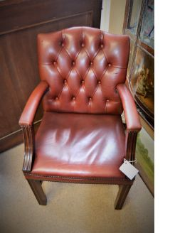 Leather desk armchair