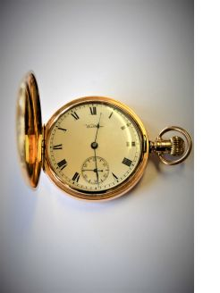 9ct gold waltham pocket watch