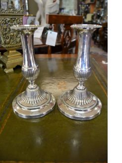 Pair of georgian candlesticks