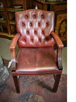Leather desk armchair