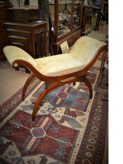Mahogany window seat/ stool