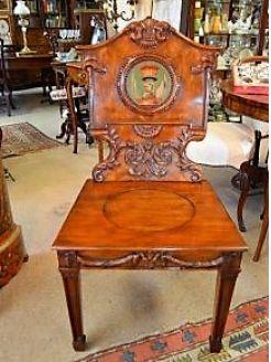 Mahogany hall chair