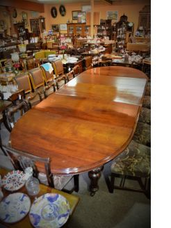 Victorian D-ended dining table