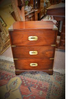 Mahogany and brass mount chest