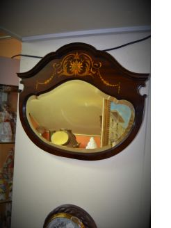 Late 19th century mahogany framed mirror