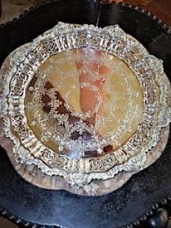 Victorian silver salver