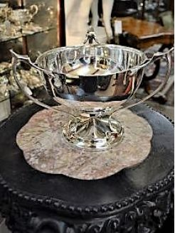 Silver arts & crafts style bowl
