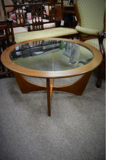 Teak and glass 1970s coffee table