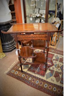Mahogany & rosewood occasional table