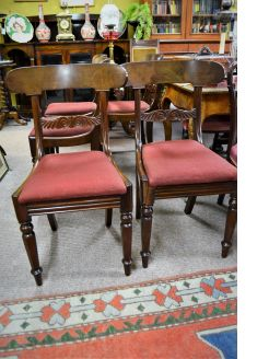 Set of six victorian chairs