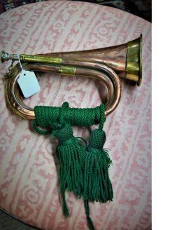 Old copper & brass bugle