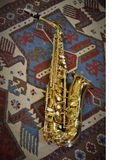 Cased saxophone