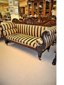 William IV mahogany couch , on castors