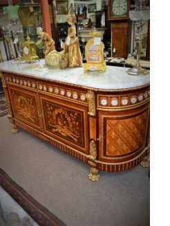 Marble top cabinet/sideboard