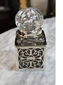 Silver mouted perfume bottle