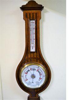 Edwardian mahogany barometer