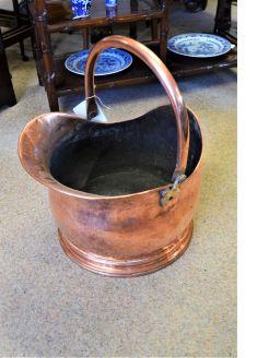 Victorian copper coal scuttle