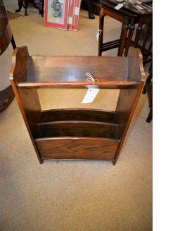 1920s Oak book trough