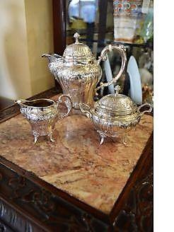 Three piece swedish silver coffee set
