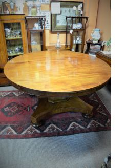 Victorian mahogany circular table