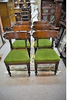 Six Victorian mahogany chairs